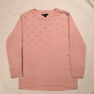 Girls 👧🏻 Gap pink sweatshirt with gold hearts💛